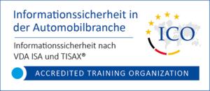 ICO-Akkreditierungslogo für Informationssicherheit nach VDA ISA und TISAX